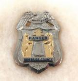 SCARCE OBSOLETE USA RIVERSIDE COUNTY PARK RANGER ENAMELLED METAL PIN / BADGE #18