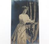 RARE 1909 FAMOUS ITALIAN SOPRANO ADELINA PATTI HANDSIGNED REAL PHOTO POSTCARD