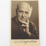 c1920s CONDUCTOR COMPOSSER FELIX WEINGARTNER HANDSIGNED REAL PHOTO POSTCARD