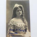 RARE 1908 AMERICAN SOPRANO YVONNE de TREVILLE HANDSIGNED REAL PHOTO POSTCARD