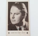SCARCE c1940s HERBERT ERNST GROH SWISS TENOR & FILM ACTOR HANDSIGNED POSTCARD