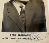 c1950s AUSTRIAN OPERATIC BASS OTTO EDELMANN HANDSIGNED REAL PHOTO POSTCARD.