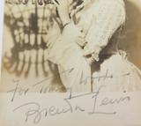 c1950s AMERICAN OPERATIC SOPRANO BRENDA LEWIS HANDSIGNED REAL PHOTO POSTCARD