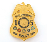 RARE OBSOLETE 1947 - 2007 USA DEPT DEFENCE 60TH ANNIVERSARY LARGE POLICE BADGE.