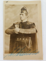 c1940s SWEDISH OPERATIC TENOR SET SVANHOLM HANDSIGNED REAL PHOTO POSTCARD