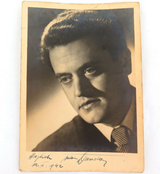 1942 SLOVENE OPERATIC TENOR ANTON DERMOTA HANDSIGNED LARGE REAL PHOTO POSTCARD