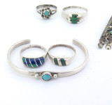 Beautiful Selection Turquoise Malachite Azurite Sterling Silver Jewellery 18.5g