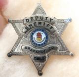 OBSOLETE SCARCE USA ARAPAHOE COUNTY COLARADO DEPUTY SHERIFF METAL PIN BADGE #28