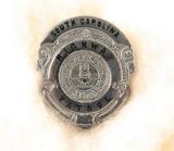 OBSOLETE VINTAGE USA SOUTH CAROLINA HIGHWAY PATROL METAL PIN BADGE #35