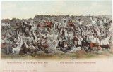"""EARLY 1900s SOUTH AFRICA BOER WAR """"REMINISCENCE OF THE ANGLO-BOER WAR"""" POSTCARD."""
