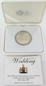 2011 ROYAL WEDDING L/ED .925 SILVER PROOF 5 POUND COIN + BOX + COA.