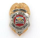 OBSOLETE LAS VEGAS EMERGENCY MANAGEMENT FIRE DEPT. LARGE BADGE. SYMBOLARTS