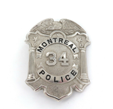 c1960s / 1970s OBSOLETE USA WISCONSIN MONTREAL POLICE 34 LARGE BADGE.