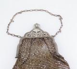 Antique Ornate Metallic Silver Gold Tone Mesh Whiting & Davis Co Bag 1920's