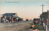 RARE EARLY 1900s WOODY POINT, QLD NEAR THE JETTY, RETRAC SERIES POSTCARD.