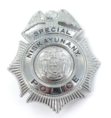 OBSOLETE US NISKAYUNA POLICE N.Y LARGE BADGE.