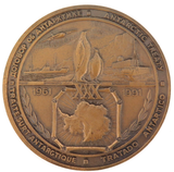 ANTARTIC TREATY 1961 - 1991 LARGE HEAVY BRONZE MEDAL 65MM DIAMETER 162G