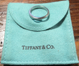 Tiffany & Co. Platinum 3mm Band Ring Size 7.5 w/ Pouch