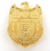 REPLICA USA SPECIAL AGENT GOLDPLATED BELT BADGE.