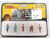 HO SCALE SCENIC ACCENTS WOODLAND SCENICS PASSENGERS A1873 PACK, UNOPENED.