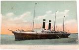 "FGO STUART, 1000 c1910 PRE WW1 COLOUR POSTCARD ""S. S. NEW YORK"" PASSENGER SHIP"