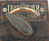 RARE VINTAGE MAR No 1239 120V 60W METAL TOY TRANSFORMER.
