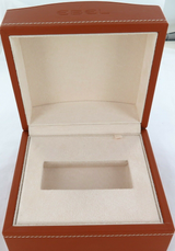 OBSOLETE QUALITY GENUINE LEATHER EBEL MENS WATCH DISPLAY BOX