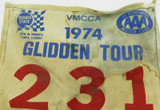 1974 VMCCA GLIDDEN TOUR, FLORIDA LARGE COMPETITORS BANNER NUMBER 231