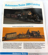 1989 KALAMAZOO TRAINS CATALOG. 22 PAGES + ORDER FORM.