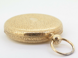 Antique 1853 Patek Philippe 18k Yellow Gold Vermicelle Pocket Watch & Extract