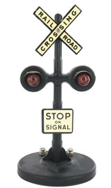 """VERY NICE LIONEL ? O SCALE """"STOP ON SIGNAL. RAILROAD CROSSING"""" METAL ACCESSORY."""