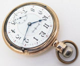 1897 Illinois Bunn Special 24 Jewel 18s 14K Gold OF Railroad Pocket Watch