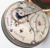 1897 Illinois Bunn Special 24 Jewel 18s 14K Gold OF Railroad Pocket Watch