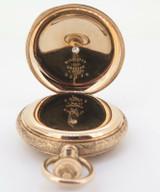 C.1890 Illinois 14K Multicolour Gold Diamond Set 6s Pocket Watch - Serviced