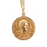14ct Yellow Gold St Genesius Pendant Patron Saint Actors Lawyers Dancers 14.2g