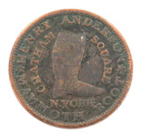 1837 USA HARD TIMES TOKEN. HENRY ANDERSON, NY. BOOT & SHOE.