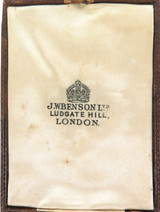 EARLY 1900s J W BENSON, LUDGATE HILL, LONDON JEWELLERY BOX.