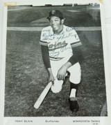 MLB TONY OLIVA, MINNESOTA TWINS HANDSIGNED LARGE PHOTO.