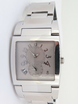 De Grisogono Instrumento Uno Dual Time GMT Ltd Ed Steel Watch Ref UNO DF