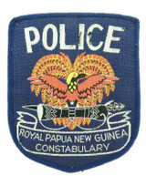 RARE EARLY EXAMPLE PNG PAPUA NEW GUINEA POLICE LARGE PATCH.