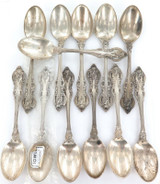 "1964 SUPERB MATCHING SET 12 TOWLE ""EL GRANDEE"" STERLING SILVER FRUIT SPOONS."