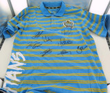 GOLD COAST TITANS SIGNED SUPPORTERS SHIRT. 8 SIGNATURES.
