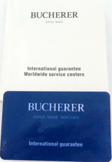 BUCHERER WATCH INTERNATIONAL GUARANTEE + BOOKLET.