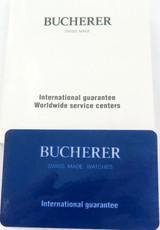 BUCHERER WATCH INTERNATIONAL GUARANTEE + BOOKLET.