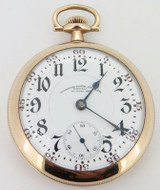 Very Rare 1912 Illinois Bunn Special 26 Jewel Gold Filled OF Railroad Pocket Watch