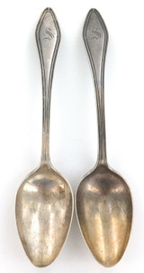"ANTIQUE MARY CHILTON ""PATENT 1912"" MATCHING PAIR TOWLE STERLING SILVER SPOONS."