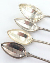 "1896 > USA TOWLE ""OLD COLONIAL"" PATTERN STERLING SILVER TEASPOONS & SUGAR SPOON"