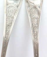 c1879 USA UNKNOWN MAKER MATCHING PAIR STERLING SILVER SERVERS
