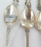 """1960s USA TOWLE """"EL GRANDEE"""" PATTERN MATCHING SET 12 STERLING SILVER SOUP SPOONS"""