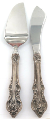 """1960s USA TOWLE """"EL GRANDEE"""" PATTERN STERLING SILVER HANDLES SMALL SERVERS."""